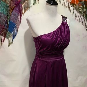 Speechless One Shoulder Purple Dress - Size M